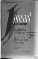Journal of the Midwest History of Education Society