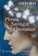 Oxford Dictionary Of Phrase Saying And Quotation Book PDF