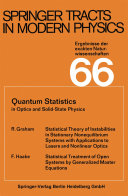 Quantum Statistics in Optics and Solid-State Physics Pdf/ePub eBook
