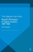 Russell s Philosophy of Logical Analysis  1897 1905