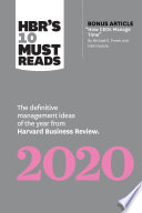 HBR s 10 Must Reads 2020