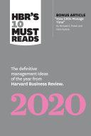 HBR's 10 Must Reads 2020 Pdf/ePub eBook