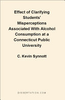 Effect of Clarifying Students' Misperceptions Associated with Alcohol Consumption at a Connecticut Public University