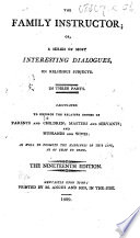 The Family Instructor. In three parts. By D. Defoe. With a recommendatory letter by the Reverend Mr. S. Wright