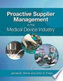 Proactive Supplier Management in the Medical Device Industry Book