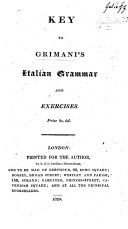 Key to G.'s Italian Grammar and Exercises