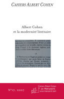 Pdf Cahiers Albert Cohen N°17 Telecharger