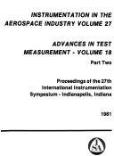 Proceedings of the International Instrumentation Symposium