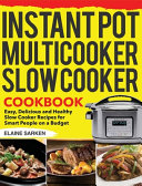 Instant Pot Multicooker Slow Cooker Cookbook Book PDF