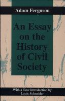 An Essay on the History of Civil Society, 1767 Pdf/ePub eBook