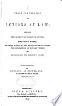 A Practical Treatise on Actions at Law
