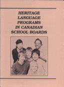 Heritage Language Programs in Canadian School Boards