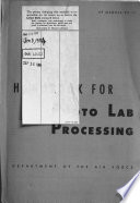 Handbook for Photo Lab Processing