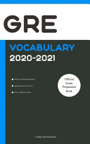 GRE Official Vocabulary 2020 2021