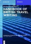 Handbook of British Travel Writing