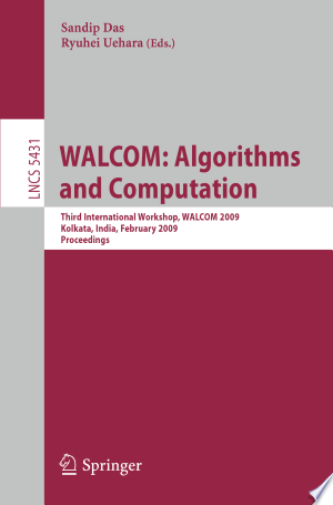 Download WALCOM: Algorithms and Computation Free Books - Dlebooks.net