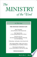The Ministry Of The Word Vol 22 No 3
