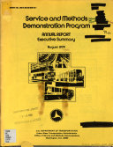 Service and Methods Demonstration Program  Annual Report  Executive Summary  August 1979