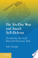 The Six Day War And Israeli Self Defense