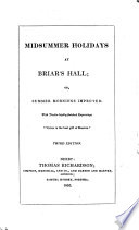 Midsummer Holidays at Briar s Hall  Or  Summer Mornings Improved    3rd Ed