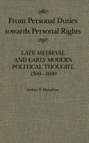 Pdf From Personal Duties Towards Personal Rights Telecharger
