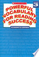 Powerful Vocabulary for Reading Success  : Student Workbook, Grade 3