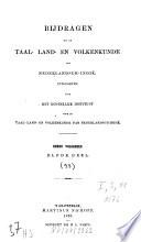 Bijdragen Tot De Taal Land En Volkenkunde