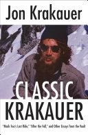 Classic Krakauer Pdf/ePub eBook