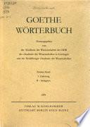 Goethe Wörterbuch