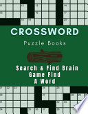 Crossword Puzzle Books Search & Find Brain Game Find A Word