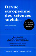 Quel(s) défi(s) pour les sciences sociales à l'heure de la mondialisation ? : mélanges offerts à Gérald Berthoud