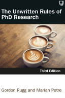 The Unwritten Rules of PhD Research 3e