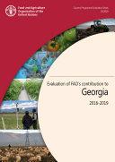 Evaluation of FAO   s Contribution to Georgia 2016 2019
