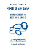 Manual of Gear Design Combined Edition Sections 1 2 and 3