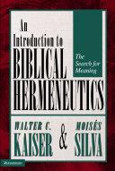 Introduction to Biblical Hermeneutics