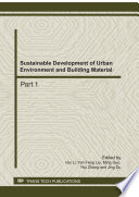 Sustainable Development of Urban Environment and Building Material