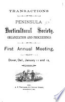 Transactions of the Peninsula Horticultural Society Book