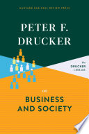 Peter F  Drucker on Business and Society Book PDF