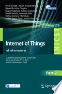 Internet Of Things Iot Infrastructures Book PDF