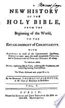 A New History of the Holy Bible Book