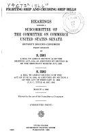 Fighting Ship and Cruising Ship Bills