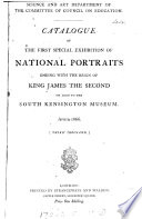 Catalogue of the first special exhibition of national portraits ending with the reign of king James the second on loan to the South Kensington museum