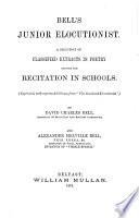 Bell S Junior Elocutionist