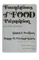 Foundations of Food Preparation Book