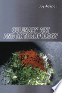 Culinary Art And Anthropology Book PDF