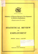Statistical Review on Employment