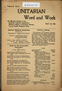 Unitarian Word and Work