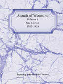 Annals of Wyoming Pdf