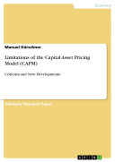 Limitations of the Capital Asset Pricing Model (CAPM)