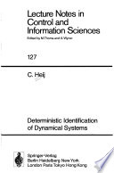 Deterministic Identification of Dynamical Systems